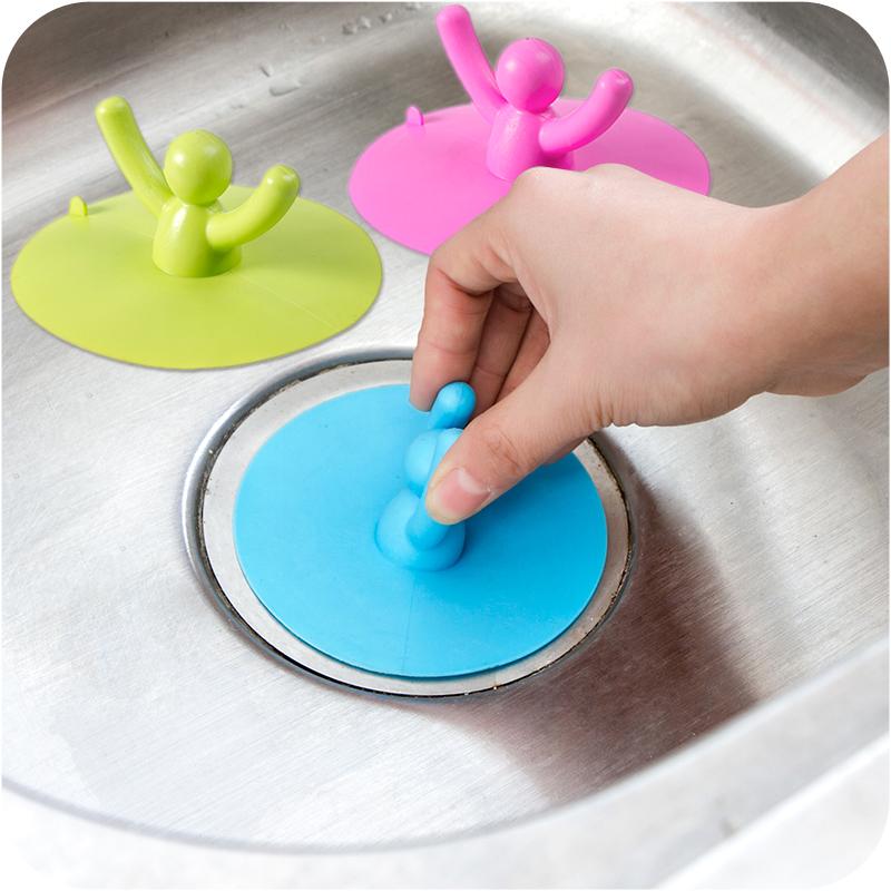 圆形防臭可提水池堵水塞硅胶地漏盖片厨房浴室下水道防异味盖子