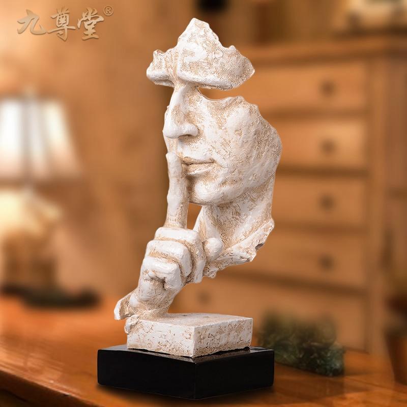 欧式现代简约工艺品摆件客厅玄关装饰创意家居抽象