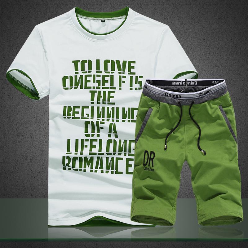恤裤卫衣男短袖男士男装青少年运动套装两件套夏季