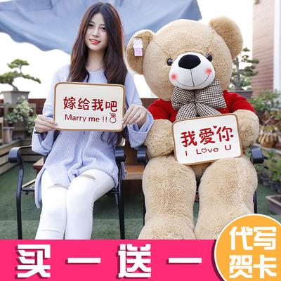 泰迪熊毛绒玩具女生玩偶熊猫公仔布娃娃大熊抱抱熊生日礼物送女友