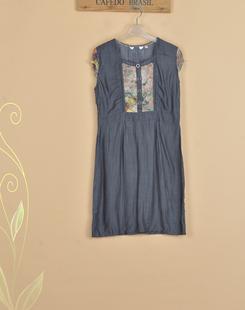 女装夏装新款专柜正品品牌剪标韩版时尚休闲优雅短袖连衣裙#48