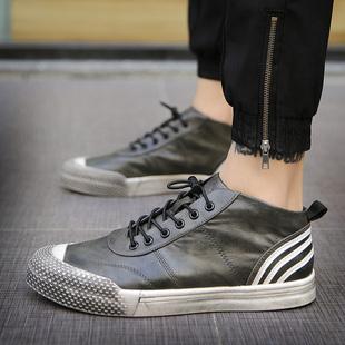 男鞋马丁靴短靴春夏男士休闲板鞋英伦百搭高帮皮鞋潮鞋韩版中帮鞋