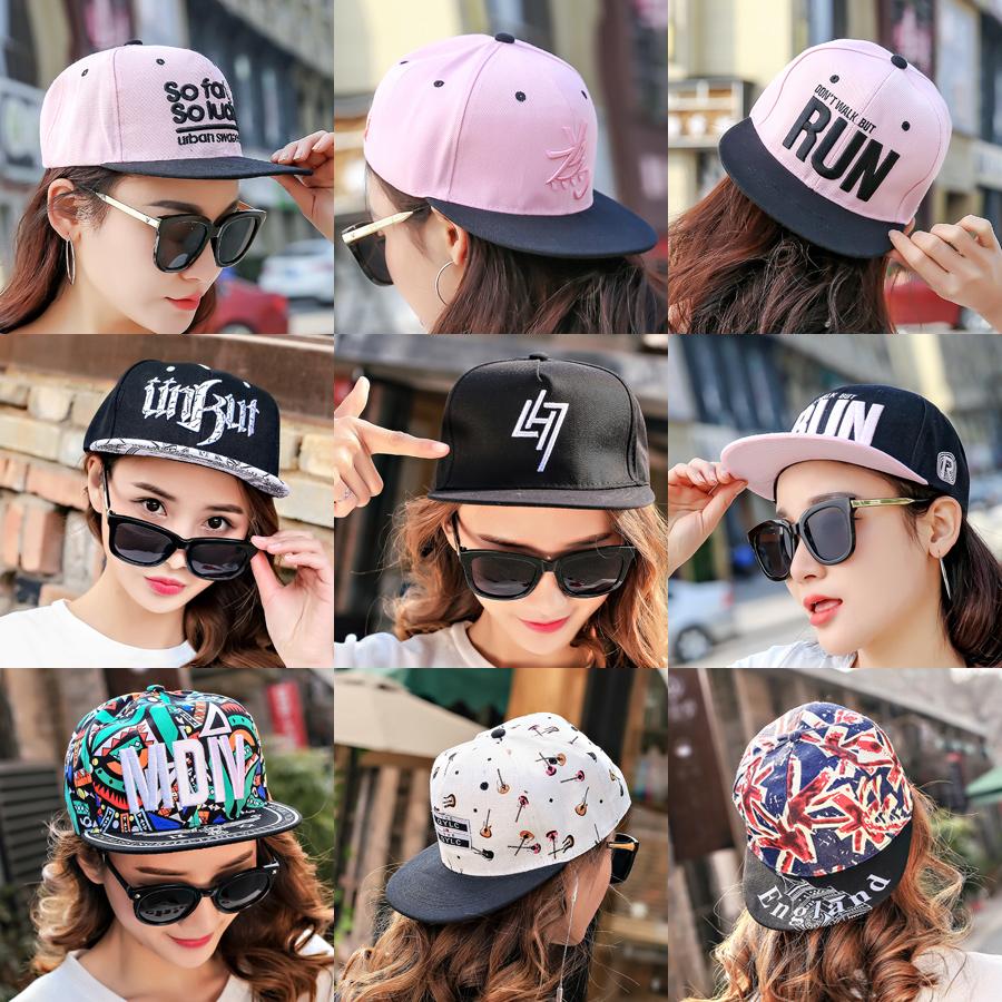 夏天学生嘻哈帽潮女士百搭男夏季帽子鸭舌帽棒球帽街舞平沿帽