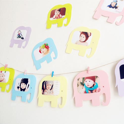可爱卡通照片墙贴悬挂纸相框儿童房间装饰幼儿园装饰