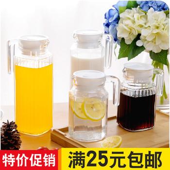 水杯玻璃水杯透明鸭嘴水壶家用大