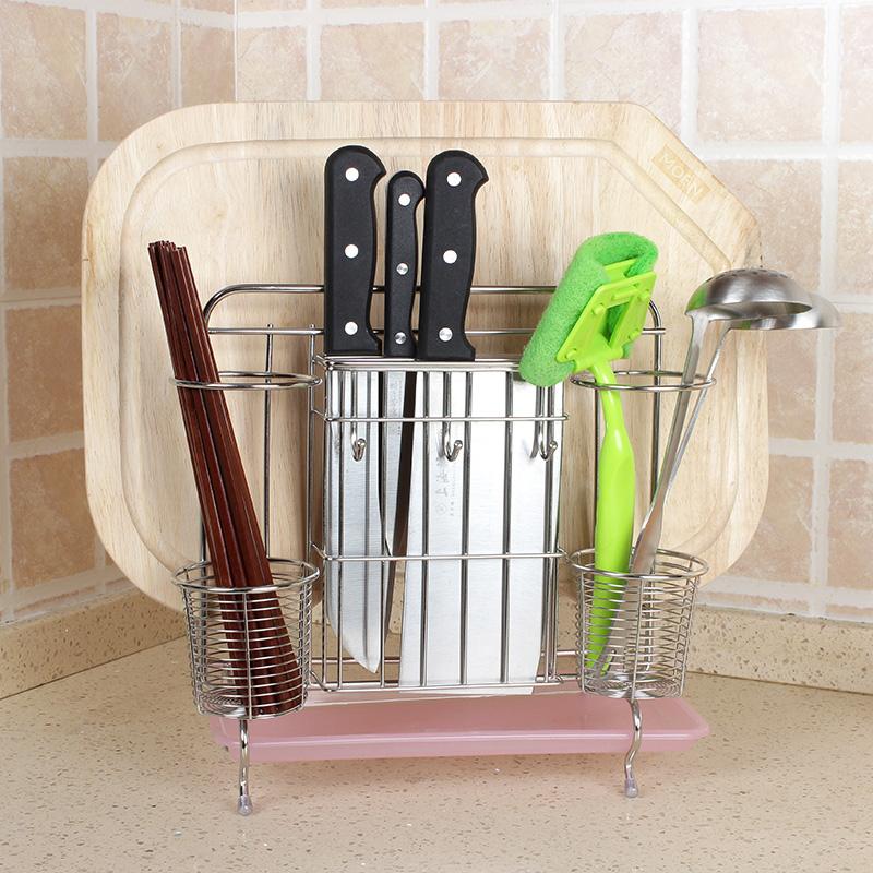厨具置物架筷子沥水砧板不锈钢收纳菜板厨房用品刀架