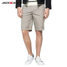 216115001 含莱卡纯色休闲短裤 JackJones杰克琼斯男装