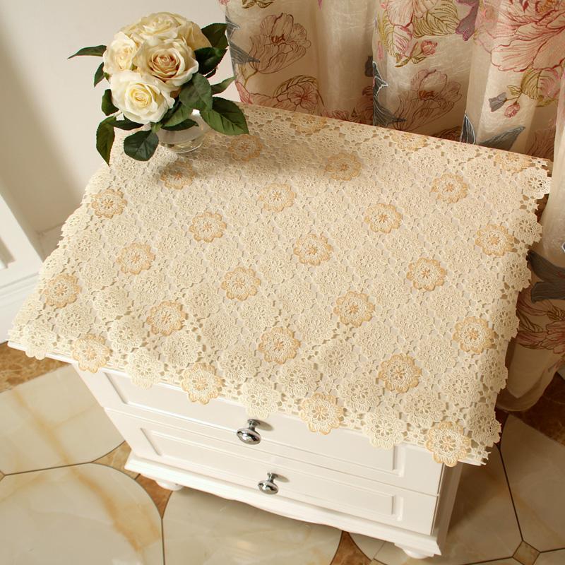 欧式印花塑料布茶几布床头柜盖布电视柜防尘罩茶几垫