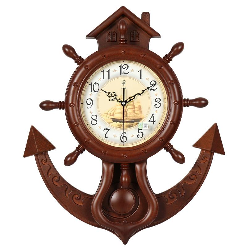 北极星20英寸欧式复古摇摆挂钟客厅简约时尚挂表卧室静音石英钟表
