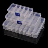 实用 透明长方形可拆卸 塑料首饰盒  小格子收纳盒 饰品盒
