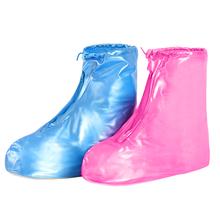 时尚女士防水鞋套加厚耐磨底成人高筒防雨脚套加长高筒下雨天防滑