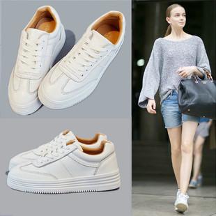 2017夏季新款韩版厚底小白鞋女系带运动鞋休闲百搭白色板鞋女鞋潮