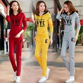 运动休闲服套装女2017春秋季新款韩版女士卫衣两件套女夏季时尚潮
