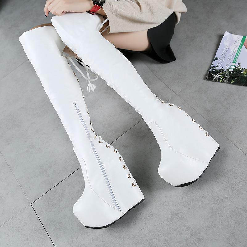 正品[长靴高跟鞋]美女穿长靴高跟鞋评测 靴高跟