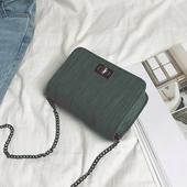 夏天小包包2017夏季潮流新款韩版百搭链条小方包锁扣单肩斜挎女包