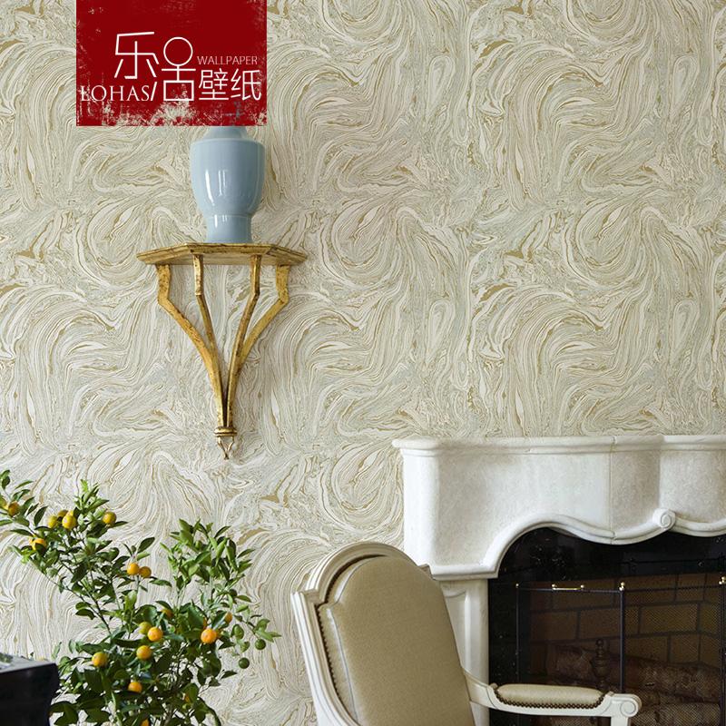 乐活北欧宜家大理石纹岩浆纹白色无纺布墙纸客厅卧室书房背景壁纸