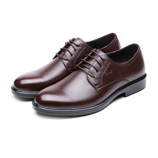头层皮系带商务休闲男式皮鞋男鞋