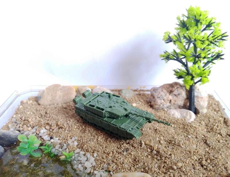 成品1:144迷你沙盘坦克模型 中国99A 绿色浅褐色(满45包邮)