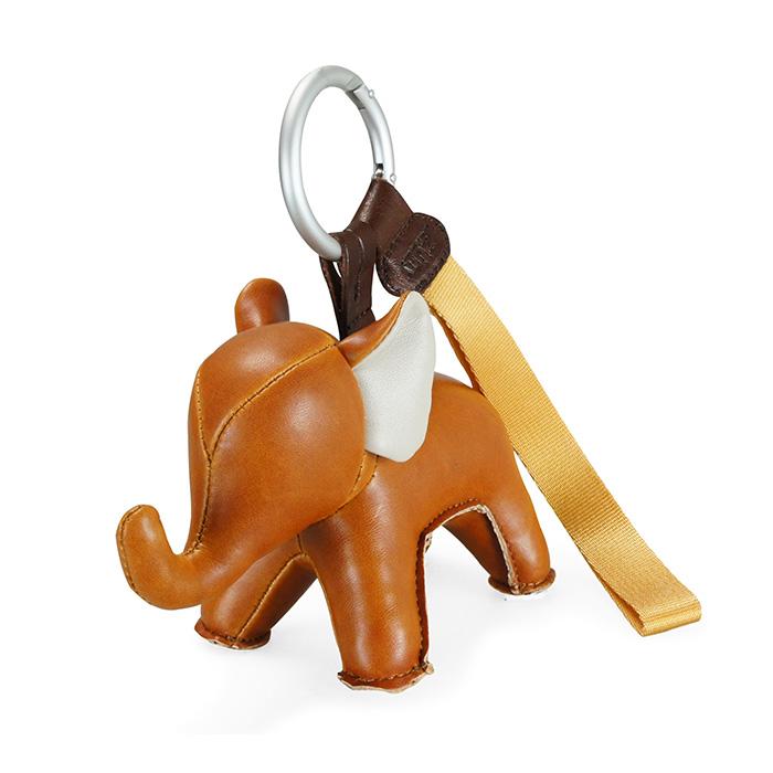 欢乐萌宠钥匙扣 Abby 大象 zuny 挂包件 生日礼物 手工皮质动物挂件