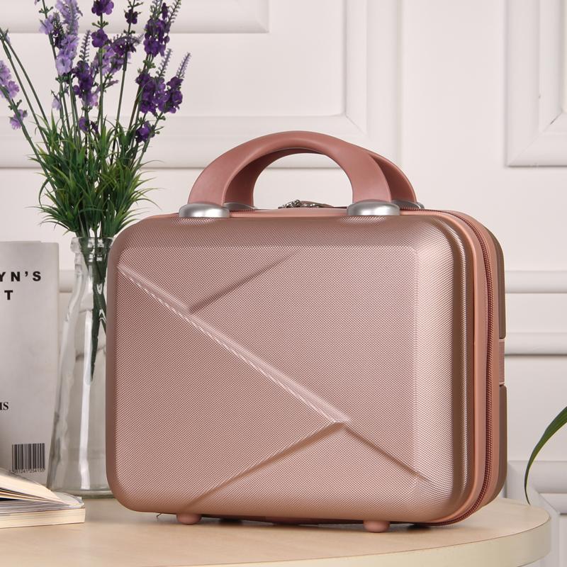 韩版可订制logo可爱化妆箱公主箱子女手提箱14寸箱包行李箱旅行包