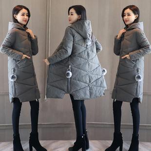 2017软妹冬季女装加厚外套反季女士棉衣女中长款韩版羽绒棉服棉袄