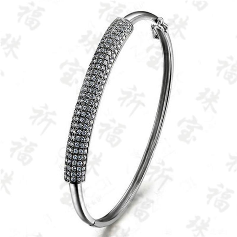 祈福珠宝首饰南非钻石翡翠镶嵌加工订做 18K女手镯手链定制手工费