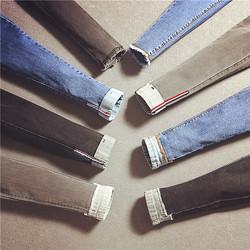 特价韩版高腰弹力裤铅笔裤九分裤流苏显瘦学院风灰色黑色牛仔裤女