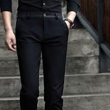 秋季新款男士商务休闲裤修身裤子男韩版黑色西裤男长裤潮流小脚裤