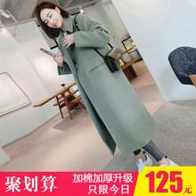 显瘦加厚潮 呢子大衣女毛呢外套中长款 春秋装 过膝修身 韩版 2017新款