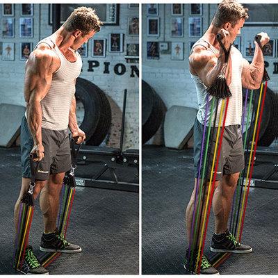 拉力绳健身男力量训练弹力带胸肌拉力器扩胸器弹力绳健身器材家用