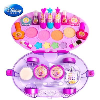迪士尼儿童化妆品口红女孩玩具公主彩妆盒过家家玩具无毒化妆盒
