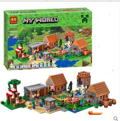 兼容乐高我的世界拼装益智积木人仔玩具超级村庄丛林树屋方块世界