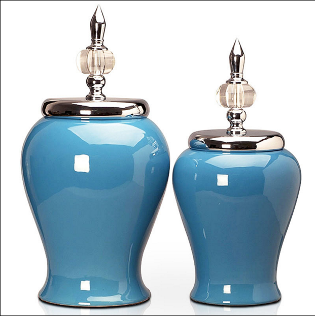 简约现代创意家居树脂工艺品储物罐摆件大号纯色罐子家装软饰摆设