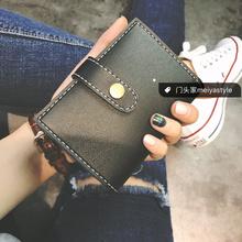 门头家自制英伦风复古3折短款小钱包卡包中性时尚简约款小包