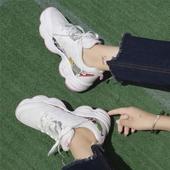 2017秋季新款韩版原宿时尚涂鸦休闲运动鞋女学生百搭平底跑步鞋女