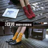 3双装堆堆袜 女全棉袜秋冬日系原宿韩国线袜中筒森系学生袜子包邮