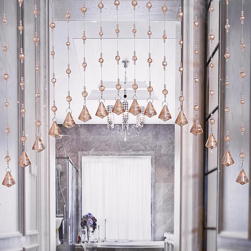 水晶帘子卫生间门帘珠帘客厅隔断帘过道欧式鞋柜卧室简约现代家用