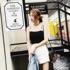 2017夏季新款潮流简约韩版女装百搭黑白字母LOGO吊带背心上衣女衫