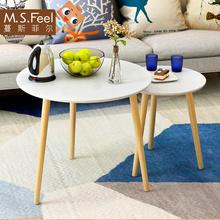 小圆茶几床头桌沙发边桌小圆桌小茶几现代简约角几边几北欧小桌子