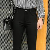 加绒打底裤女外穿加厚秋冬季2017新款韩版百搭黑色小脚女裤铅笔裤