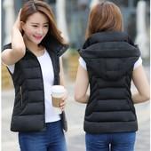2017新款韩版修身短款秋冬装可脱卸帽女马甲外套坎肩羽绒棉衣特价