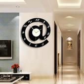 北欧家用a符号创意静音个性钟表时尚挂钟卧室石英钟客厅潮流时钟