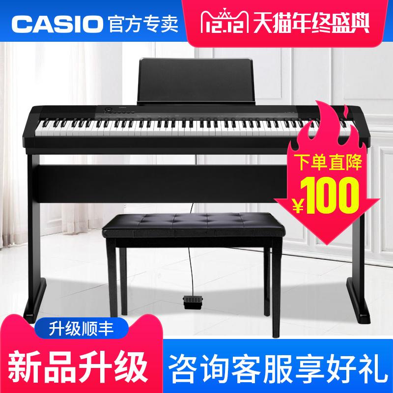 新品casio/卡西欧电钢琴cdp-135升级64复音数88键重锤初学者家用图片