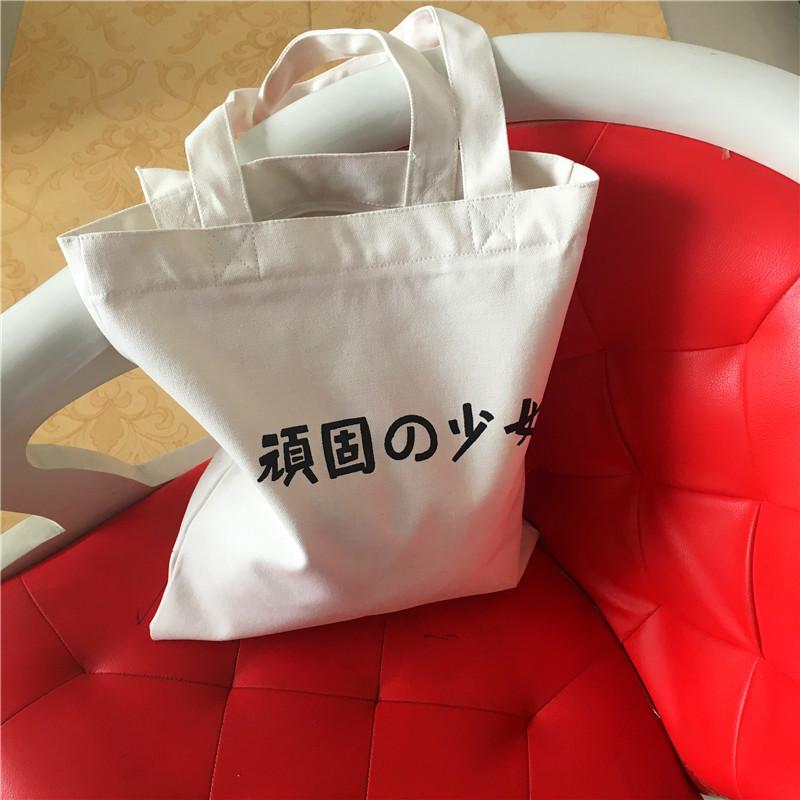 书包女单学生拉链手提包购物潮女包韩国时尚帆布包环保