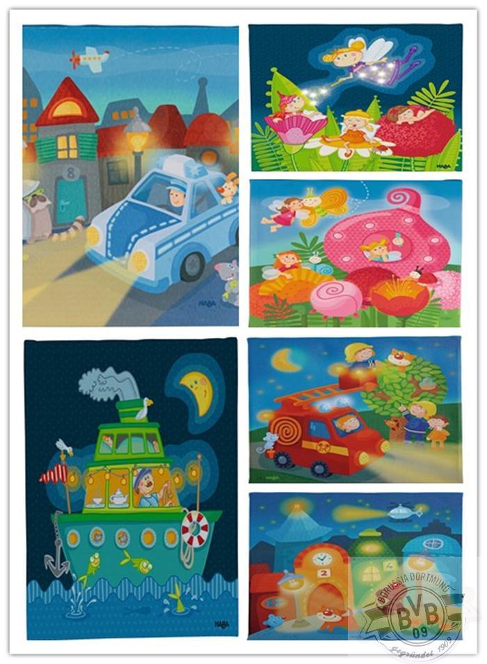 壁画壁挂LED小夜灯宝宝儿童房梦幻童话安抚haba正品现货包邮德国