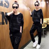 春季套装女时尚两件套韩版2017春装女装20新款休闲牛仔运动潮岁
