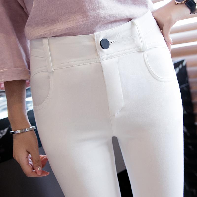 黑色打底裤女外穿长裤高腰显瘦弹力紧身铅笔裤小脚裤秋冬薄款裤子