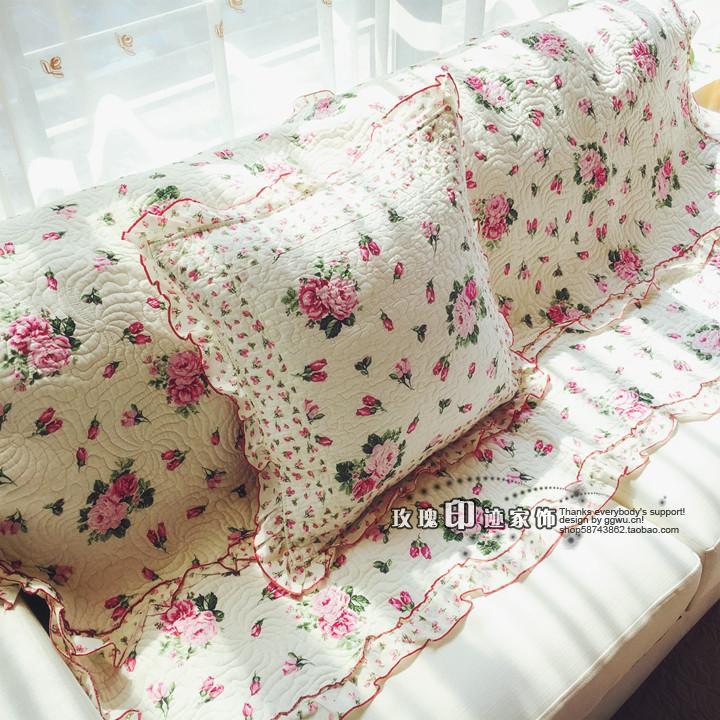 美美田园垫沙发套全棉布艺沙发罩坐垫韩式花组合沙发