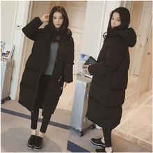韩国面包服外套女羽绒棉服 过膝学生大码 加厚冬季棉衣女中长款 新款