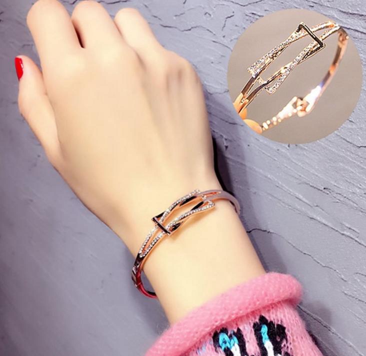 几何图形学生手链饰品欧美时尚韩国手镯